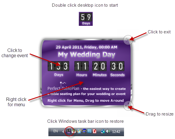 download free Windows countdown clock